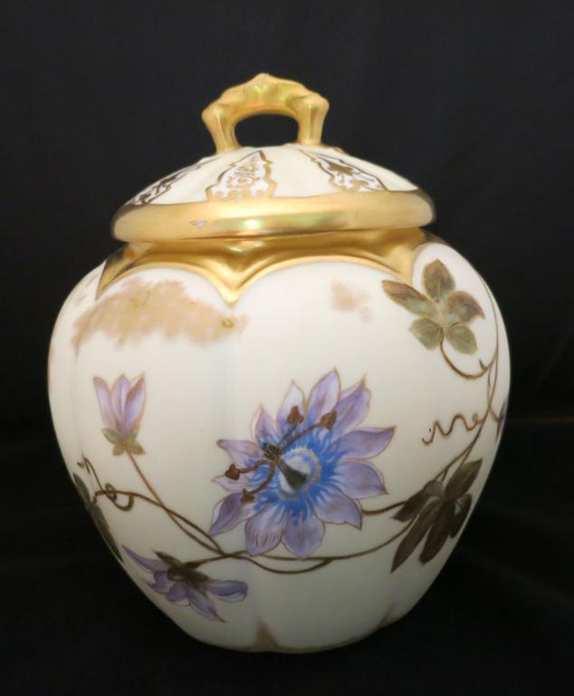 Limoges Cracker Jar