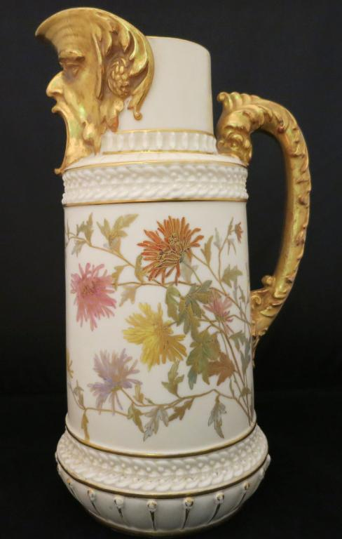 Royal Worcester Pitcher w/Grotesque Head