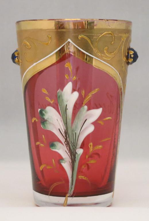 Small Moser Glass with Jewels