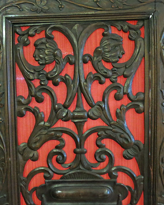 Victorian Heavily Carved 3-Panel Screen