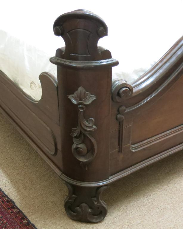 American Victorian Rosewood Half Tester Bed