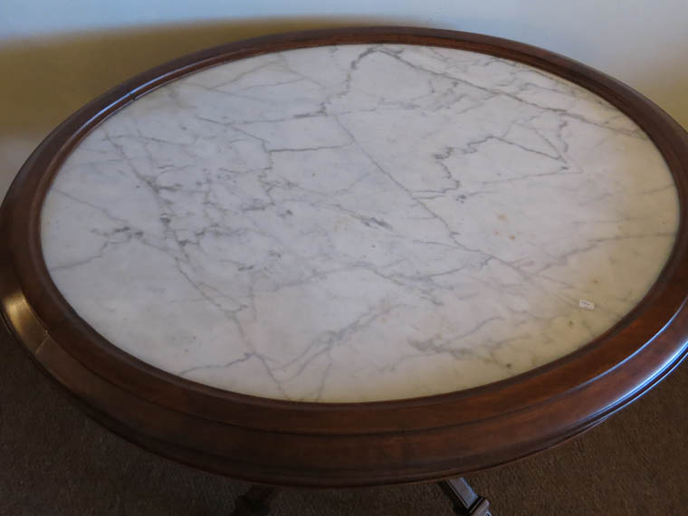 Picture Frame Marble Top Table