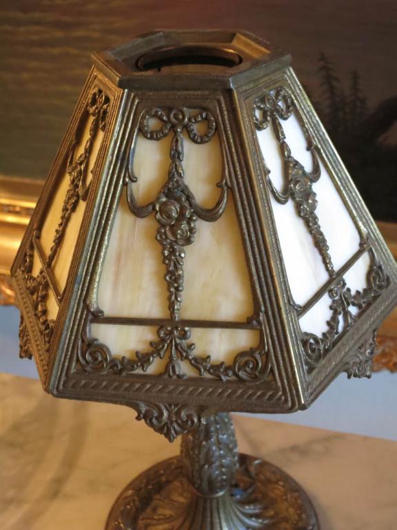 Bradley & Hubbard Signed Boudoir Lamp