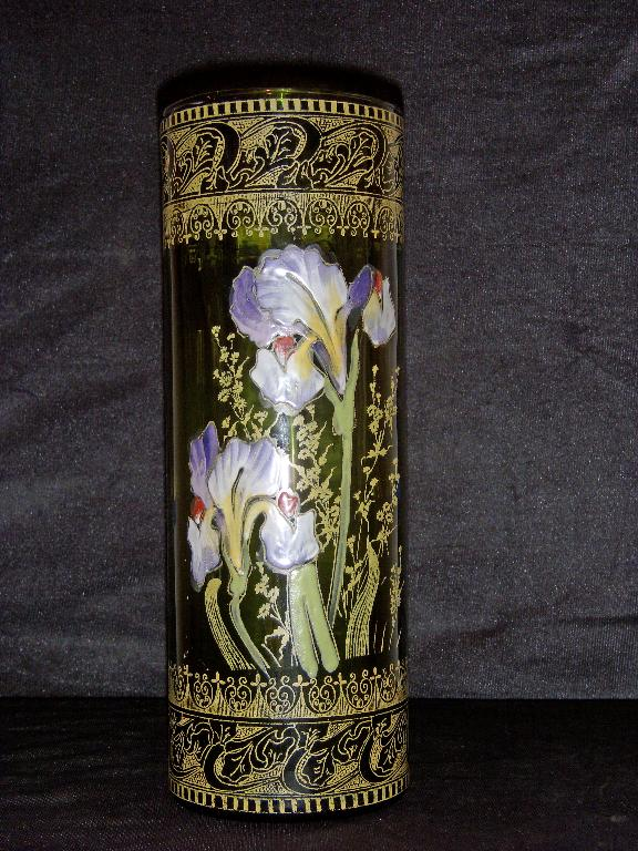 Moser Enamel Art Glass Vase