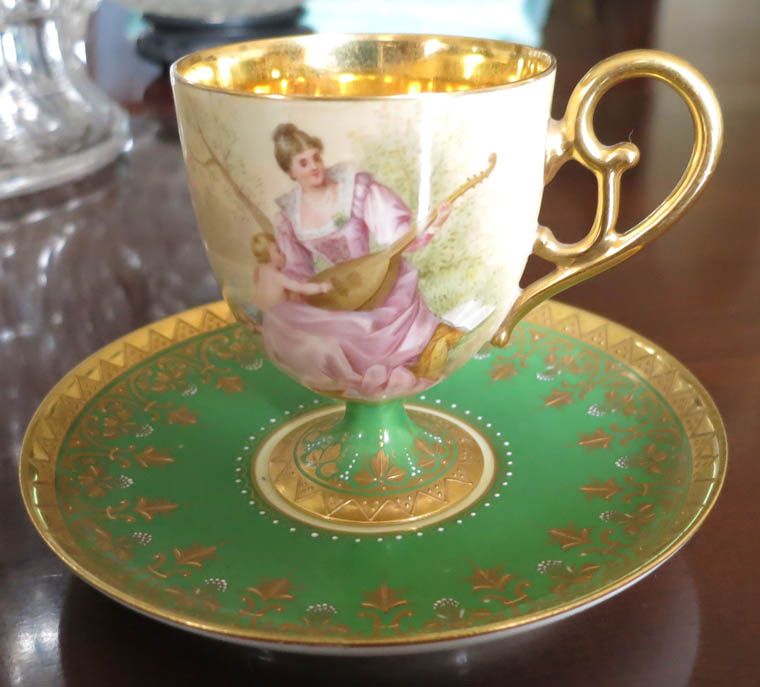 Handpainted Royal Vienna Cup & Saucer