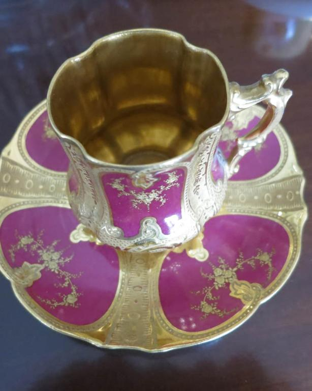 Handpainted Limoges Cup & Saucer
