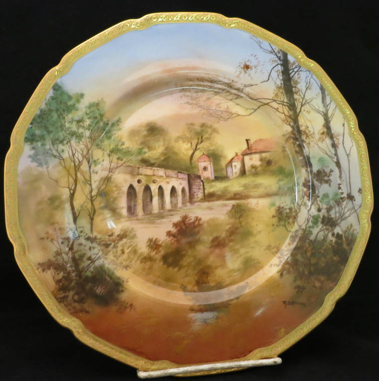 12 Handpainted Royal Doulton Service Plates