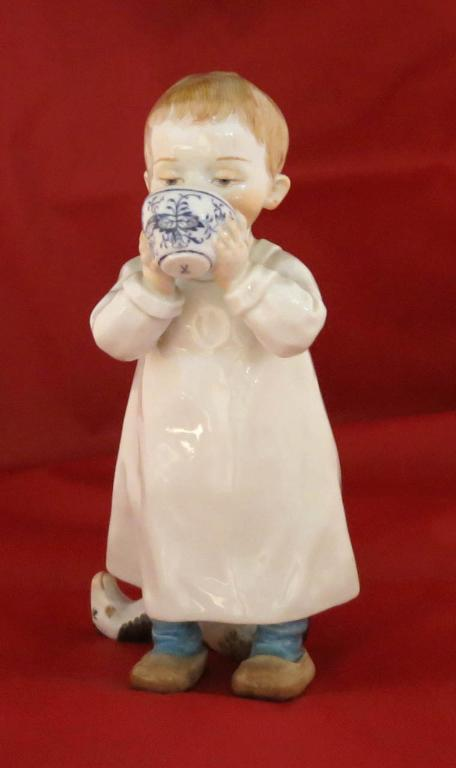 Meissen Figurine of Boy with Cup