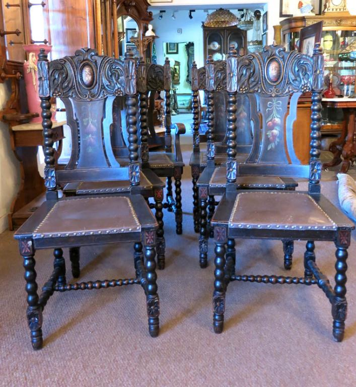 Hand Decorated Dining Table & Chairs