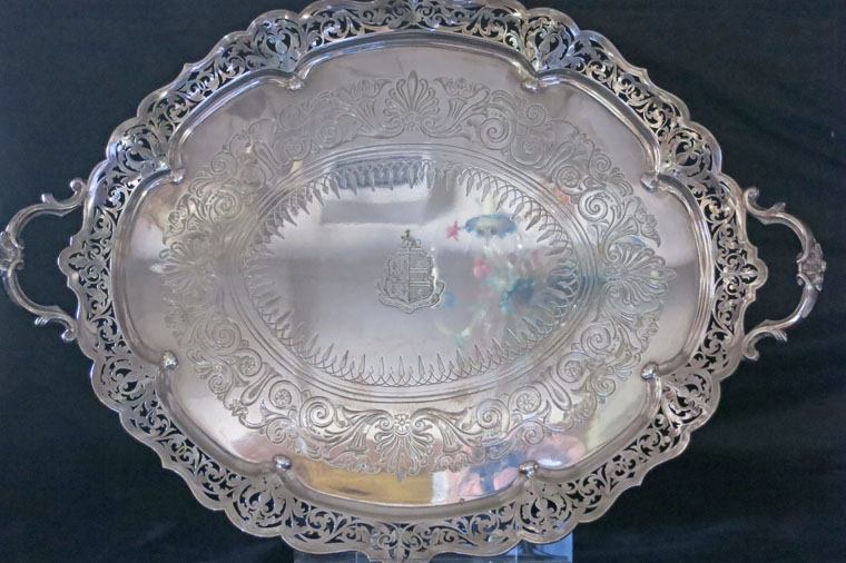 Reticulated Silver Plate Tray