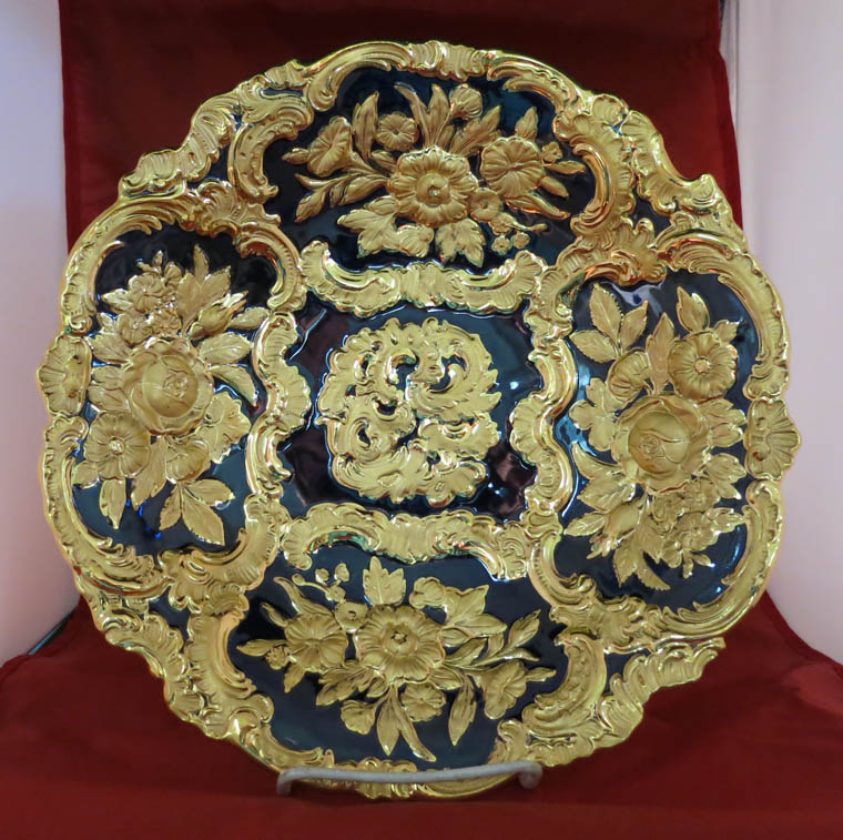 Meissen Cobolt Blue and Gold Charger
