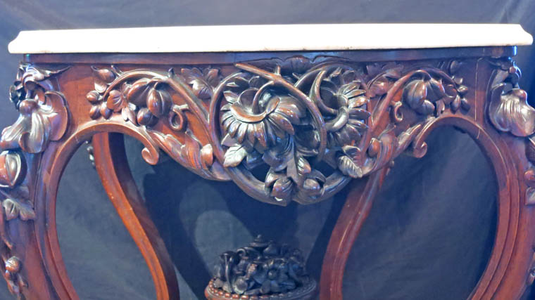 Joseph Meeks Rosewood Marble Top Parlor Table