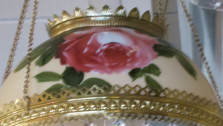 Hanging Gone with the Wind Hand Painted Light Fixture