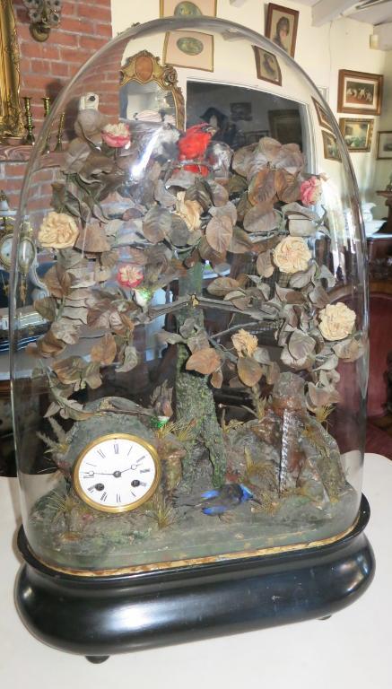 Automaton Music Box/Clock Under Dome
