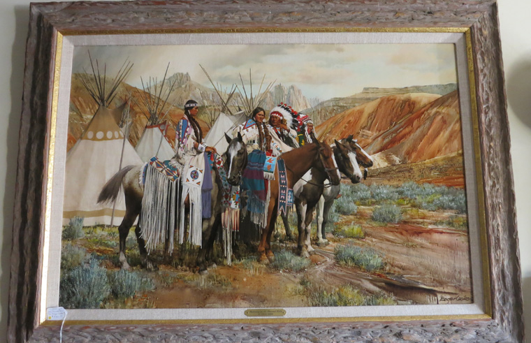 Western Oil on Board Painting by Roger Cooke