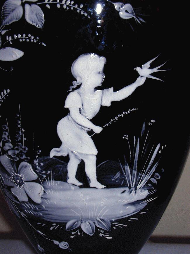 Large Mary Gregory Vase