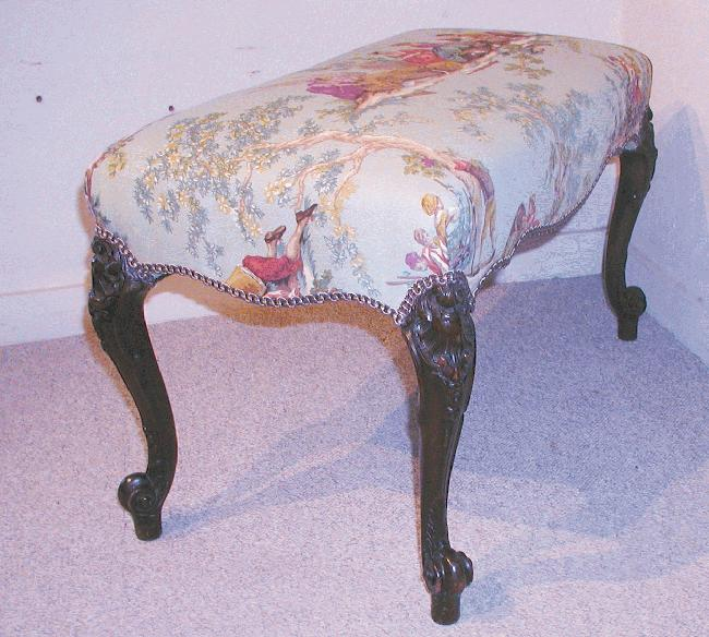 Mahogany Upholstered Bench
