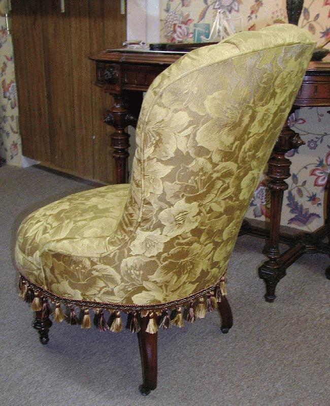 American Victorian Ladies Slipper Chair