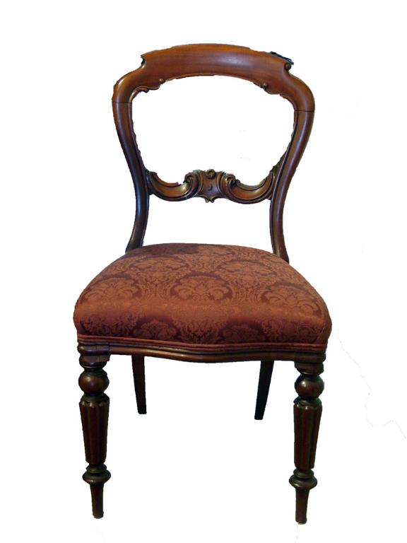 Set of 8 Victorian Mahogany Dining Chairs