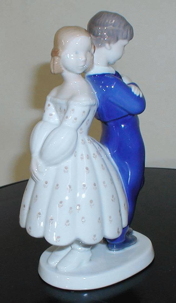 B&G Figurine of Boy & Girl back to back