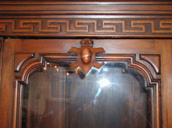 Renaissance Revival Walnut Bookcase