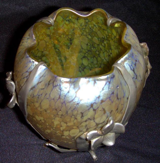 Loetz Art Nouveau Oil Spot Vase