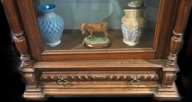 American Victorian Walnut Curio Cabinet