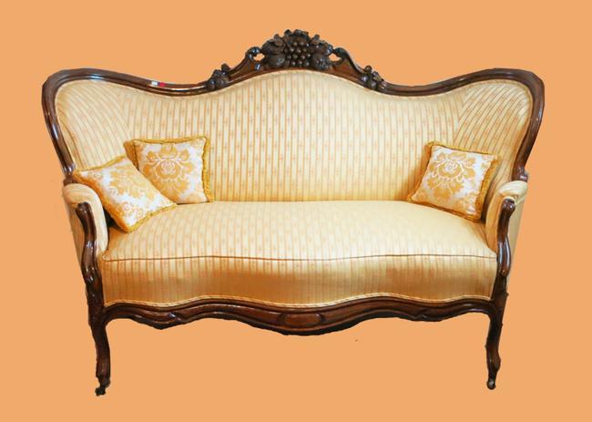 American Victorian Rosewood Settee