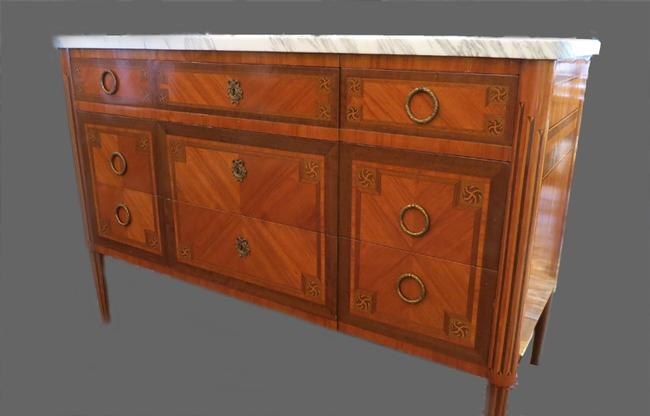 Antique French Marble Top Dresser/Server
