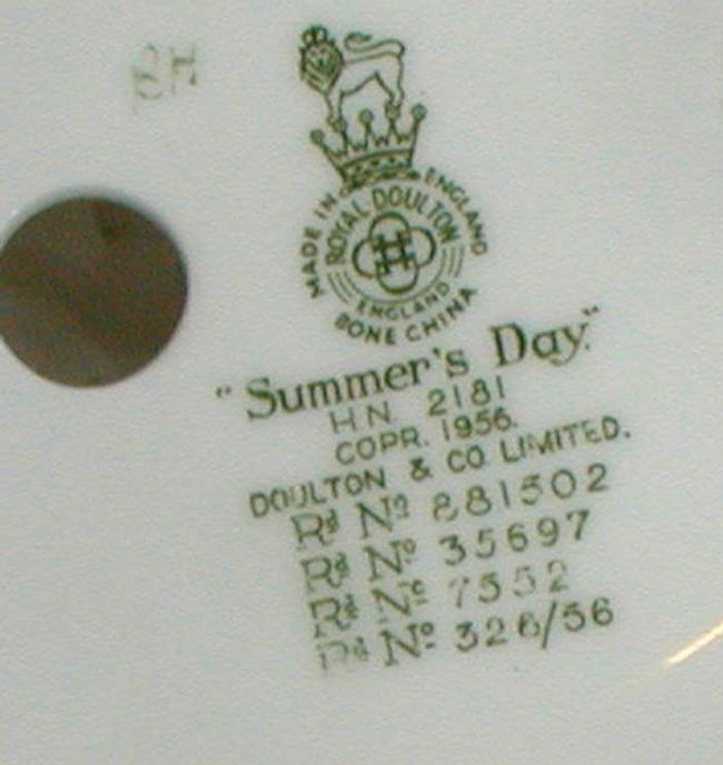 Royal Doulton HN2181 Summer's Day