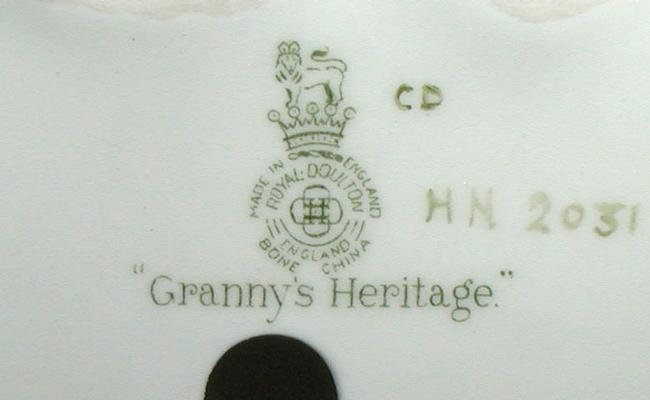 Royal Doulton HN2031 Granny's Heritage
