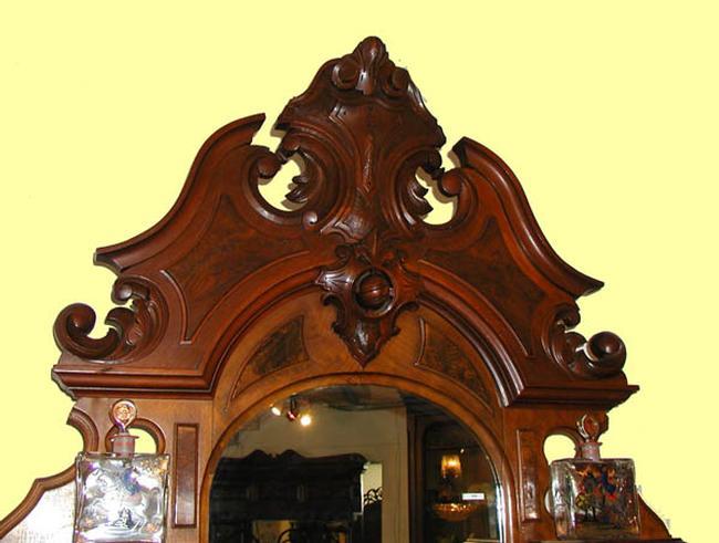 American Victorian walnut etagere