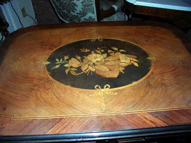 Marquetry Renaissance Revival Center Table