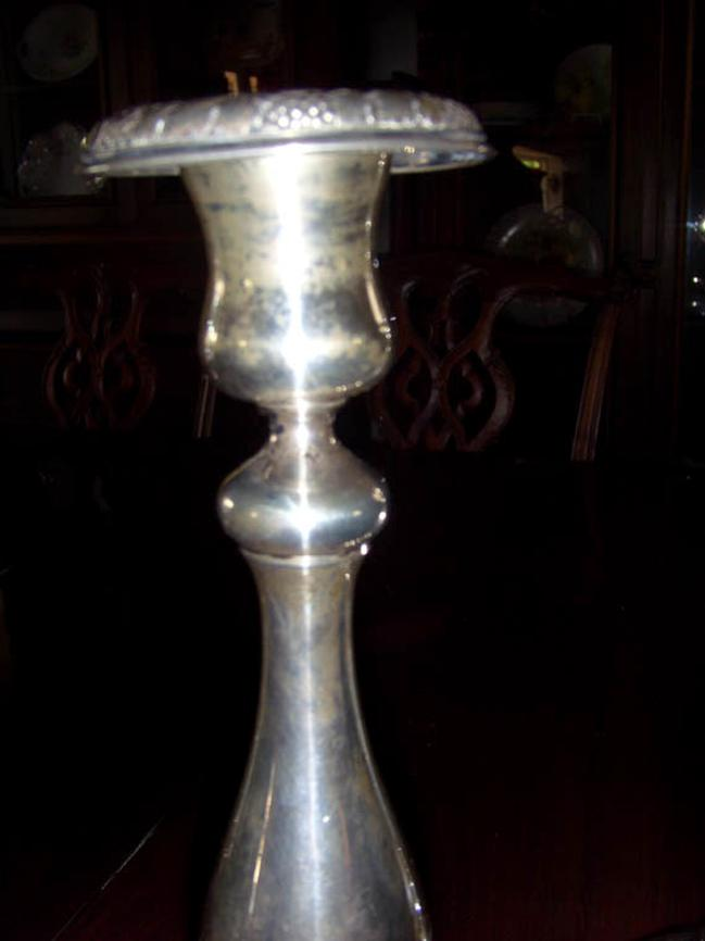 800 silver German Sabbath Candlesticks