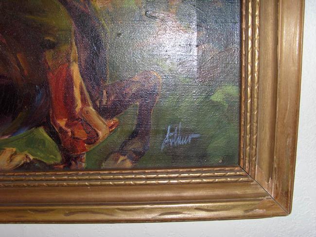Western Illustration - Oil on Canvas