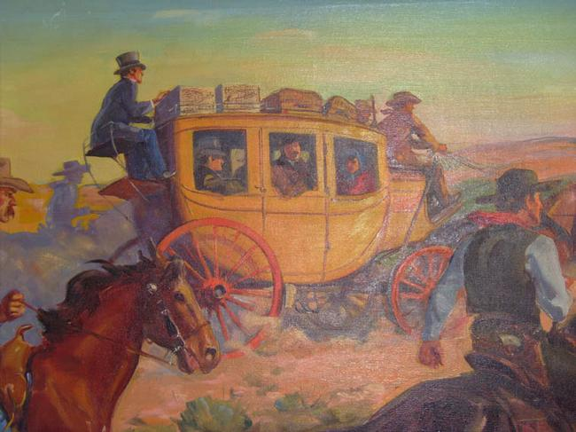 Western Illustration - Oil on Canvas