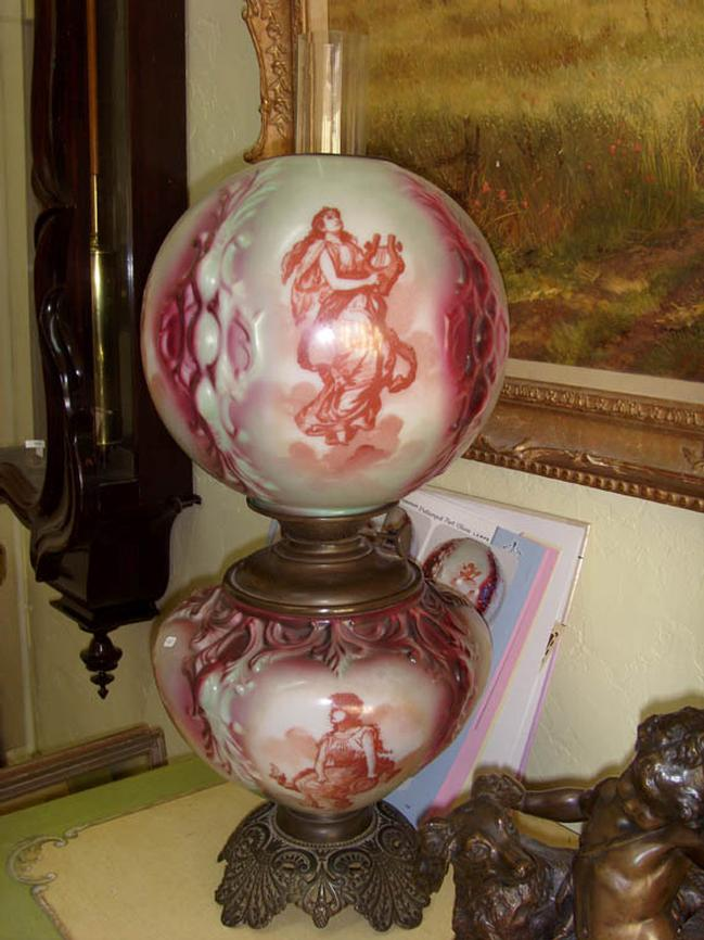 Rare Pittsburgh Banquet Lamp