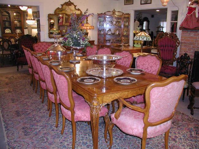 Full Dining Room Set w/12 Chairs