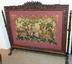 Carved Walnut Fire Screen with Needlepoint