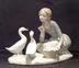 Lladro Figurine #4849 Feeding the Ducks